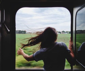 girl, train, and travel image