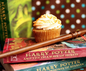 cupcake, harry potter, and books image