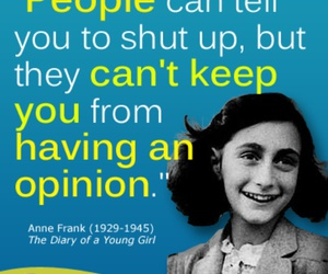 anne frank, opinion, and people image