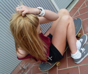 blond hair, girl, and ring image