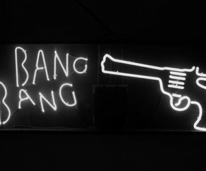 gun, neon, and bang image