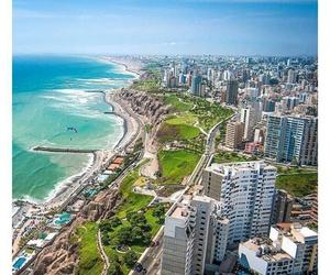 beach, city, and lima image