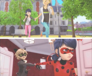 Adrien, Chat Noir, and similarities image