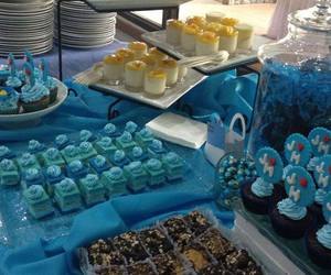 blue, cupcakes, and desserts image