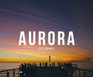 aurora and word image