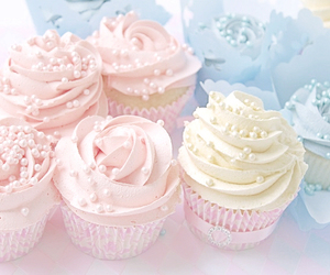 cupcake, pink, and blue image