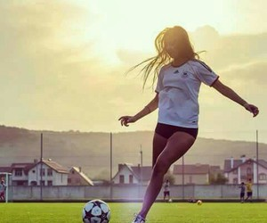 football and girl image