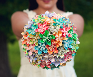 flowers, Paper, and wedding image