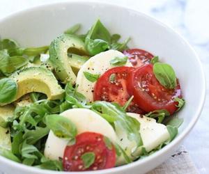 salad, food, and avocado image