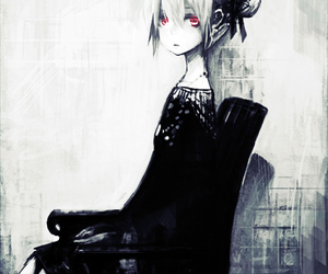 anime, black and white, and black image