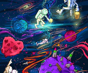 space, stars, and wallpaper image