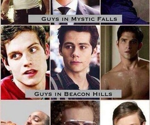 teen wolf, the vampire diaries, and mystic falls image