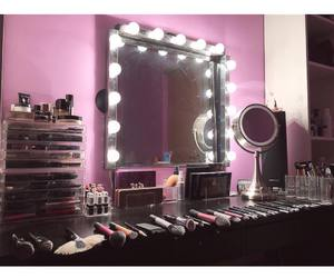 beautiful, cosmetics, and dressing table image