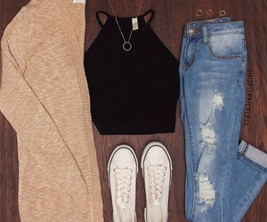 beautiful, jeans, and pretty image