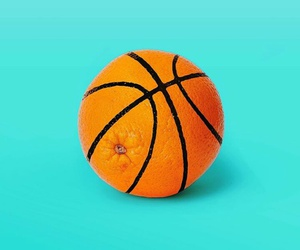 orange, Basketball, and minimalist image