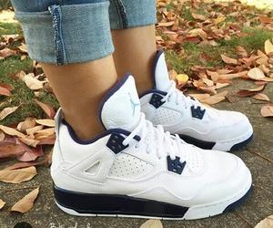 jordan, white, and sneakers image
