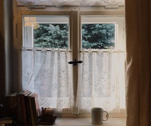 window, books, and vintage image