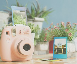 camera, flowers, and girly image