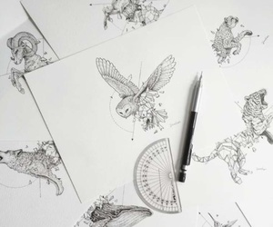 art, doodles, and animaux image