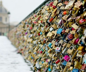 love, paris, and locks image
