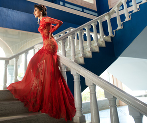 beauty, fashion, and gown image