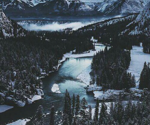 beautiful, mountain, and snow image
