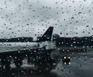 airport, rain, and winter image