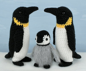 crochet and penguin image