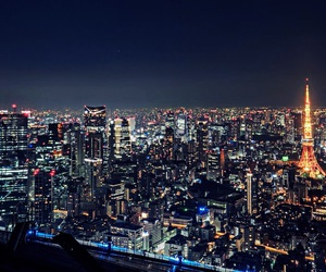city, night, and Right image