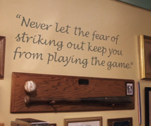 quote, a cinderella story, and baseball image