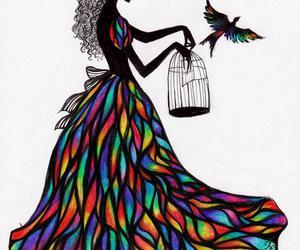 bird, freedom, and art image