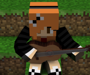 guitar, minecraft, and mestermc image