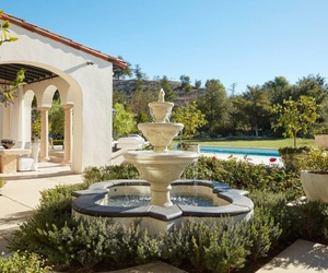 khloe kardashian, garden, and house image