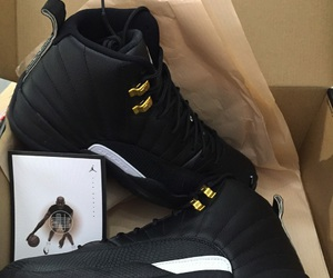 jordans, black, and shoes image