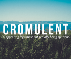 words and cromulent image