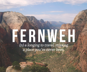 travel, words, and wanderlust image