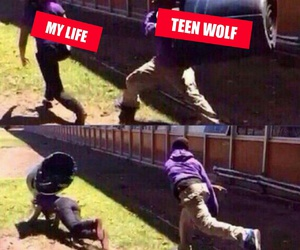 funny, teen wolf, and my life image