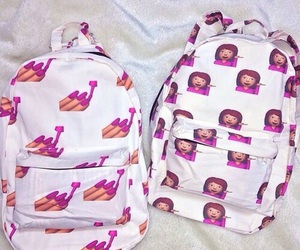 backpack, emojis, and emoji image