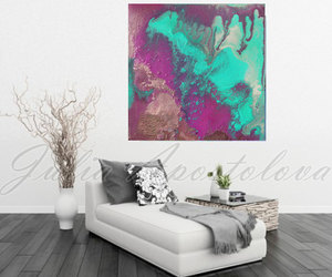 Abstract Painting, etsy, and print on canvas image