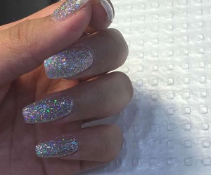 acrylics, glitter, and nails image