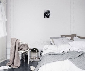 home, white, and bedroom image