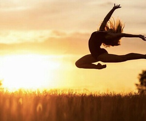 sunset, acro, and dance image