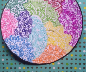colorful, mandala, and pretty image