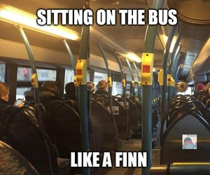 bus, finland, and finn image