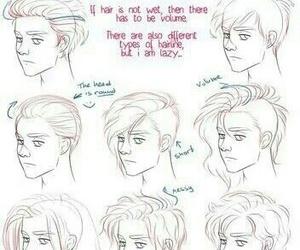 hair and drawing image