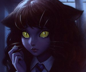cat, harry potter, and hermione image