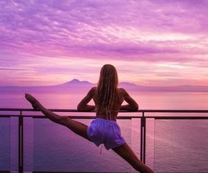 girl, summer, and yoga image