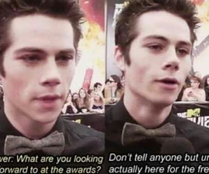 dylan o'brien, teen wolf, and food image
