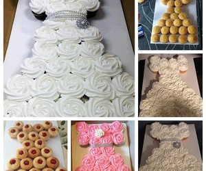 cake, dress, and food image