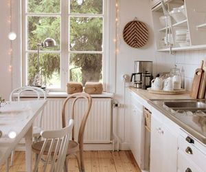 kitchen, white, and home image
